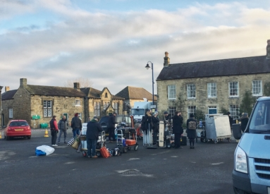 Filming in Masham