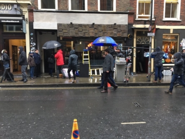 Filming on Denmark Street 2